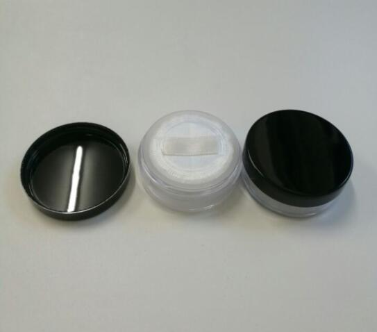 100pcs Plastic 20ml Empty Compact Case For Mineral Powder, Clear Makeup Compacts Cases Wholesale, Empty 20g Powder Jar