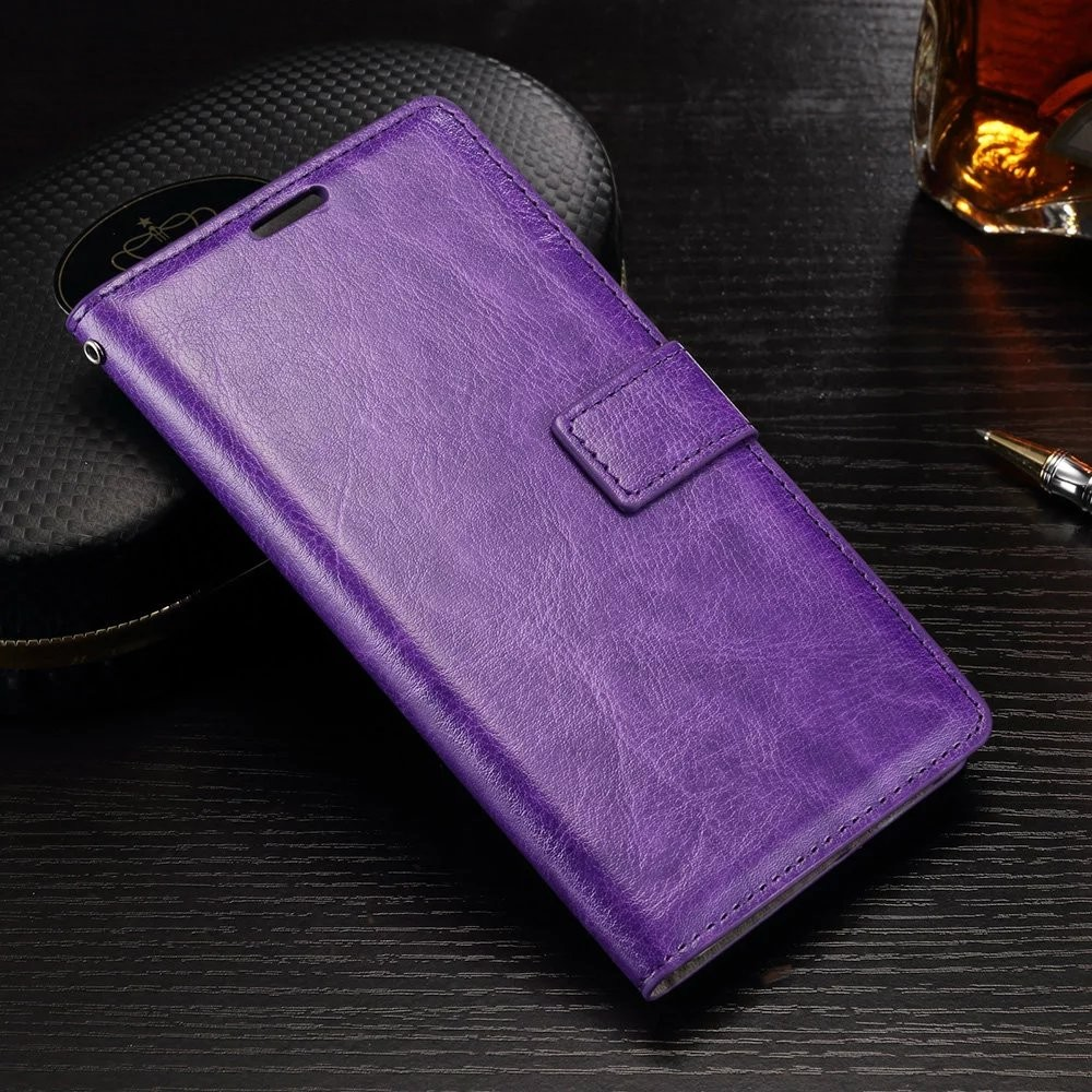 100pcs lot free shipping Crazy Horse Wallet Leather Case Cover for Samsung J1 Ace A3 2016