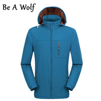 Be A Wolf Softshell Hiking Jacket Women Outdoor Windproof Waterproof Polyester Warm Camping Climbing Coat Trekking