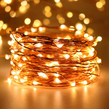 Free Shipping 12V 33ft 10m 100leds Copper Wire Christmas Holiday LED String Fairy Lights garden