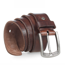100% Genuine Leather Alloy Pin Buckle Belt For Men