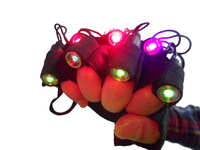 New Multi Colorful Laser Gloves 7PCS Laser Module Red Green Purple/Violet Lazer Show Lighting Rechargeable Lazers Disco Party