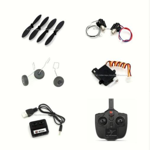 Wltoys XK A130 Y20 RC Airplaner Spare parts motor blade Landing gear servo charger Remote controller set image