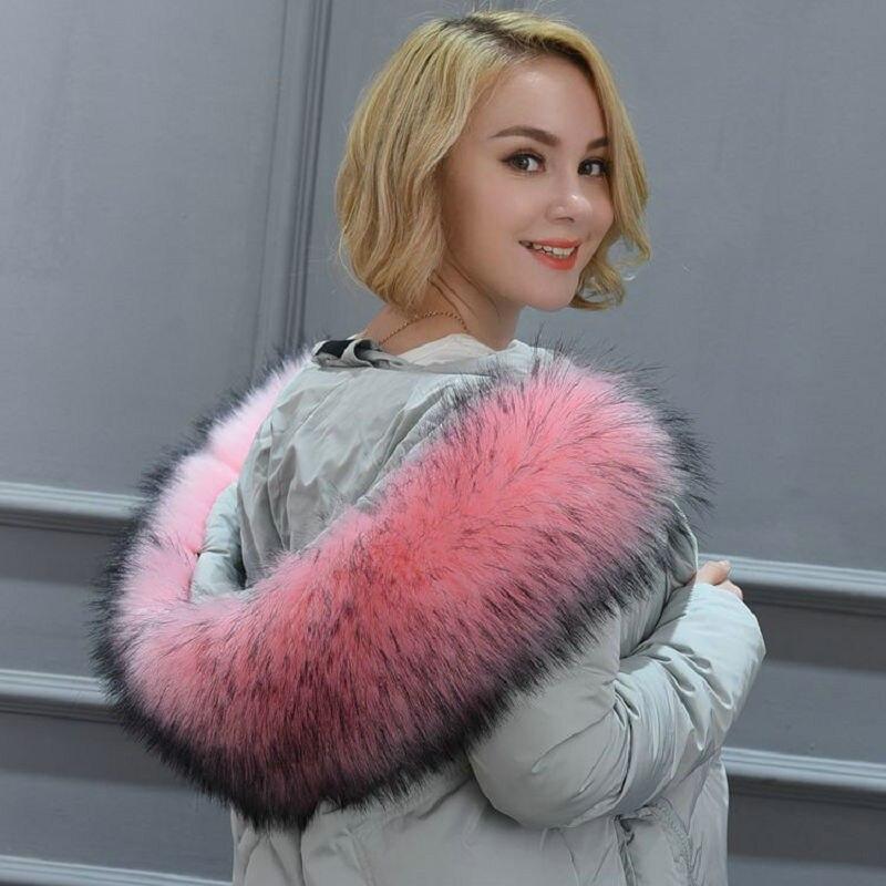 Women new faux fox fur collar multicolor shawl collar fur female fashion autumn and winter warm shawl scarves