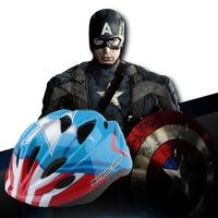 Casco de ciclismo para niños de 3 a 10 años de los vengadores  casco deportivo con protección de Seguridad al aire libre para ciclismo de Capitán América