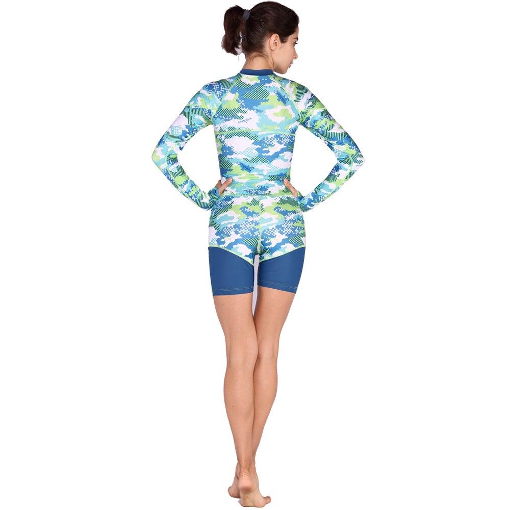 Vrouw Surfen Rash Guards Wetsuit Jumpsuit Lange Mouwen Duikpak 1-piece Surfen pakken VL736