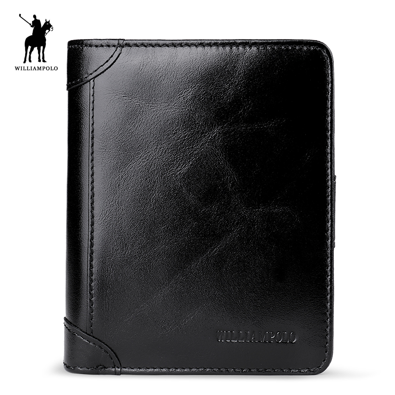 WILLIAMPOLO 2018 Leather Men Wallets Wallets Man Clutch Bag Card Holder Male Purse Men Leather Wallet Purse POLO278 universal crazy horse leather stand cover for ipad air sony xperia tablet z 10 inch tablet pc black