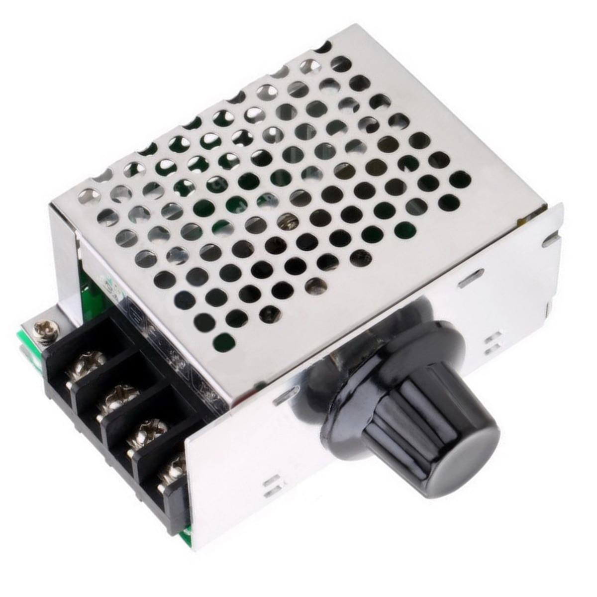 1Pc AC Regulator 4000W 220V AC SCR Motor Speed Controller Module Voltage Regulator Dimmer For Water Heater Mayitr in Voltage Regulators Stabilizers from Home Improvement