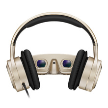 3D VR Glasses All In One With HIFI Headphones 3D Virtual Reality Glasses Touch Control HDMI Mobile Cinema For PC