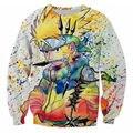 Classic Anime Naruto 3D Printed Sweatshirts Ninja Way Hoodies Men Long Sleeve Outerwear Crewneck Pullovers Plus Size 5XL