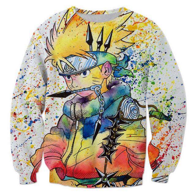 Vibrant Naruto Long Sleeve Shirt