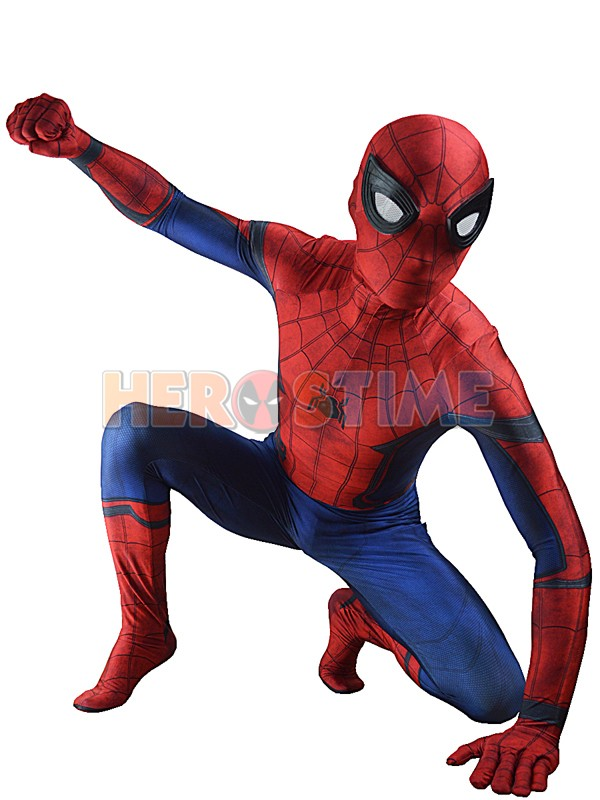 Civil War Spider-man Costume 3D Shade Spandex Fullbody Spiderman Superhero Costume For Halloween Cosplay Suit