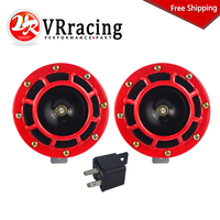 VR RACING FREE SHIPPING 2pcs 12v 115DB Hella Super Loud Compact Electric Blast Tone Air Horn