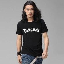 font b Pokemon b font font b Tshirt b font Anime 2016 Summer Male Black