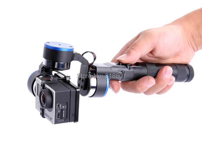 IFLIGHT 3-Axis Gopro3 Handheld steadycam Camera Gimbal Stabilizer yuneec q500 typhoon quadcopter handheld cgo steadygrip gimbal black