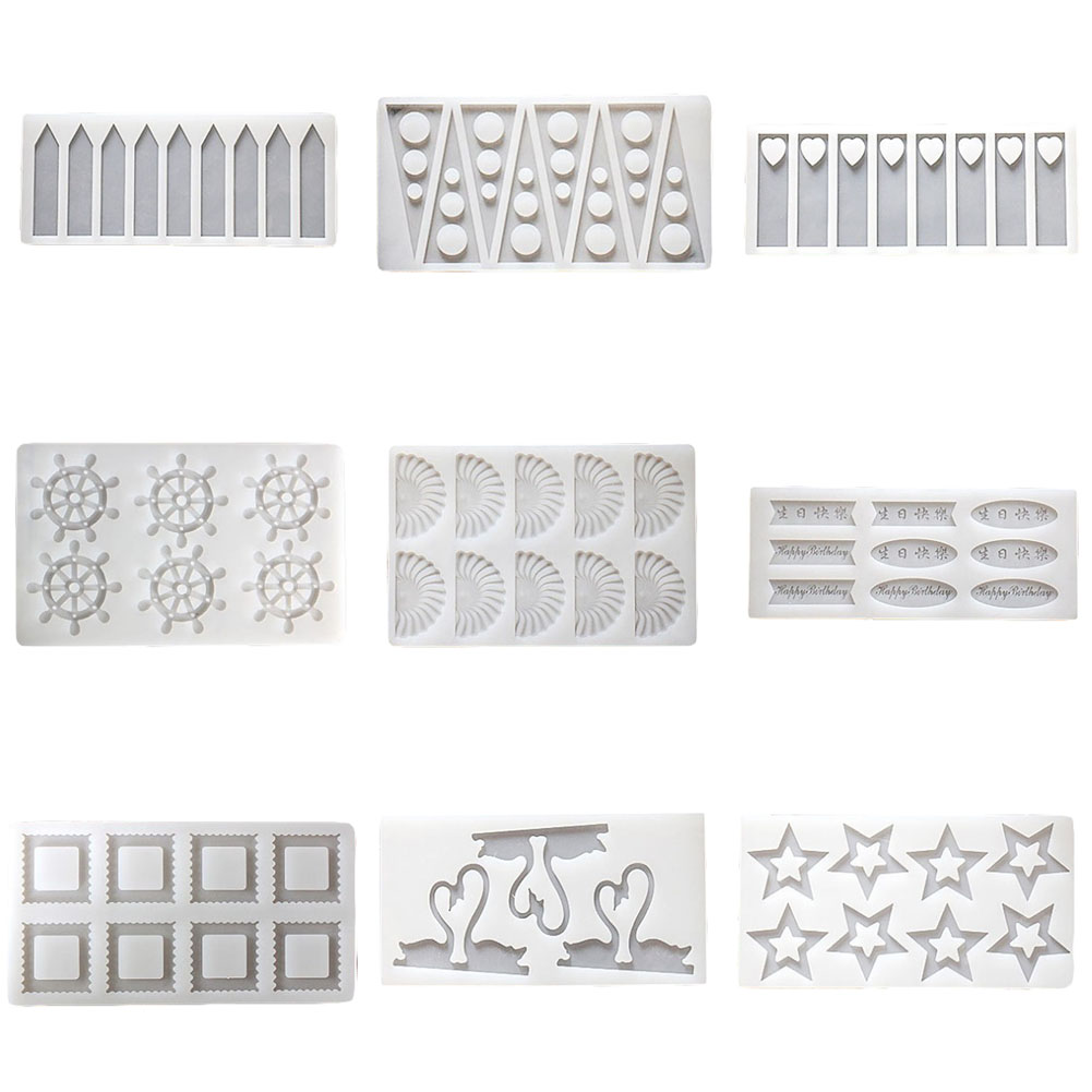 Useful Spot Wholesale 9 Even Facial Expression Big White Bear Chocolate Mould Biscuit Thin Sheet Mould Xg216 Easy To Use Cake Molds
