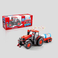 Toy Car Bubble Blowing Farm Tractor with Lights Sound Children Machines Car Toys Truck Vehicles Figure Blazed Toys For Children