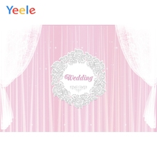 купить Yeele Wedding Photocall Muslin Holiness Pink Anadem Photography Backdrops Personalized Photographic Backgrounds For Photo Studio дешево