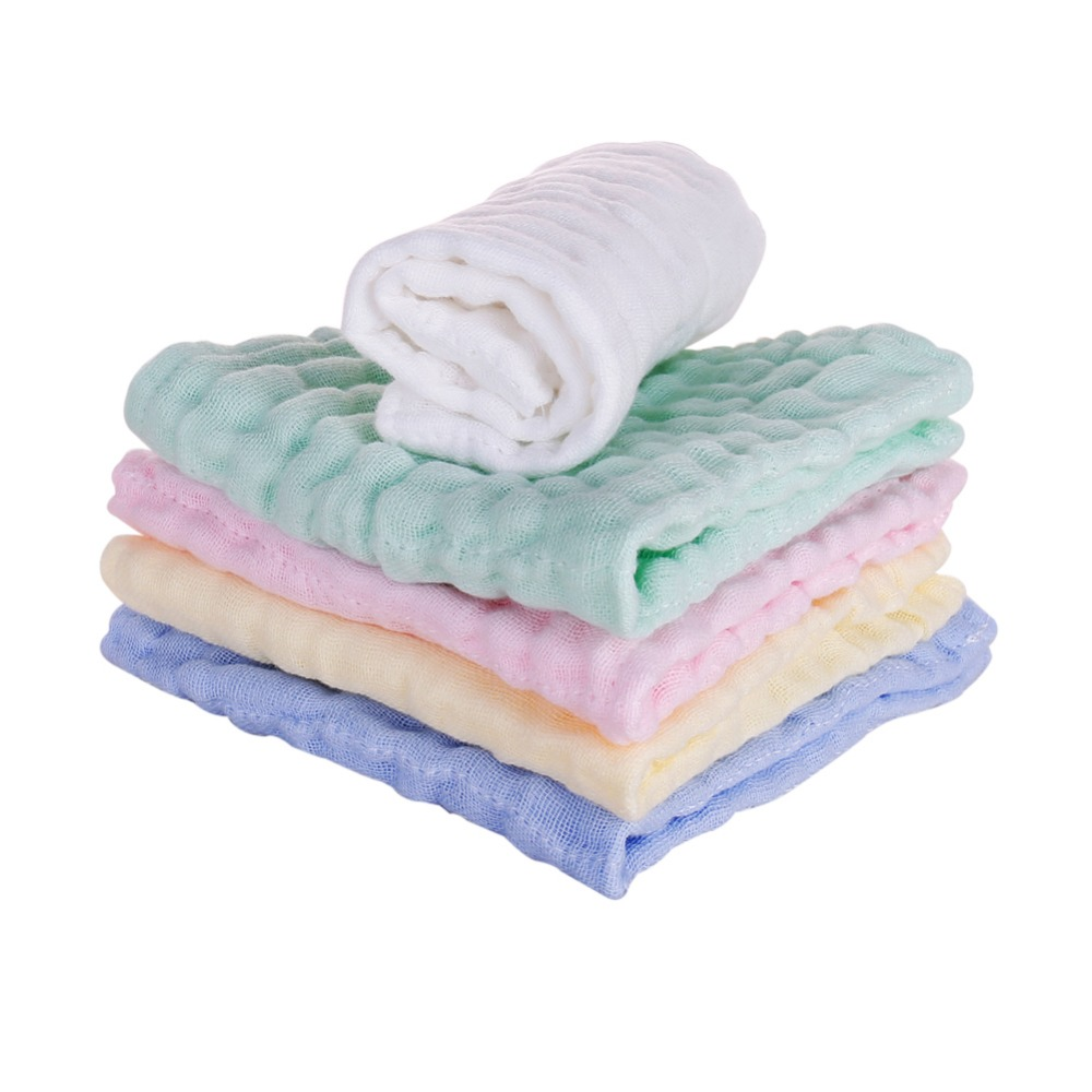 Baby Towel Cotton Natural Soft And Absorbent  Baby Face Towel Baby Bath Towel For Sensitive Kindergarten Washcloth 30x30 Cm