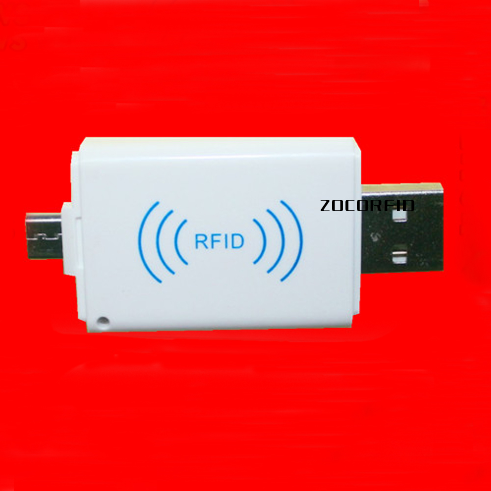 125KHz Mini RFID Reader Mobile Phone EM4100 TK4100 ID Card Reader mirco usb Interface Support Android System hot selling em id card reader usb 125khz rfid card reader