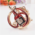 Boho Chic Red Wine Bottle Keychain Cheap Chaveiro Car Bag Pendant Charms Keyring&Keychain for Women Llaveros