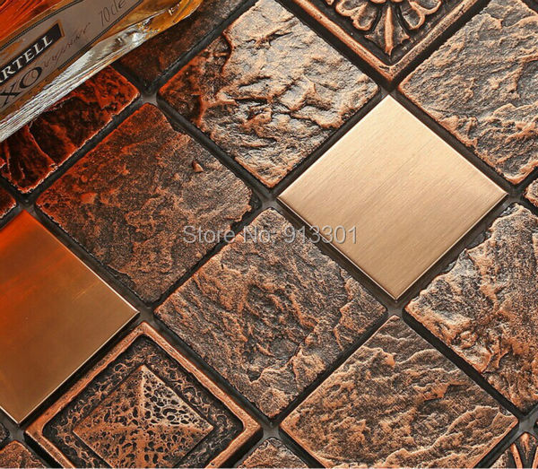 Ceramic Tiles Gold Stainless Steel Metal Tile Backsplash Cheap