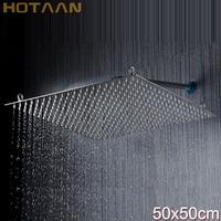 Free Shipping! 20 inch 50*50cm perfect new square bathroom stainless steel rain shower head chuveiro sprinkler Chuveiro