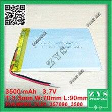 357090 3.7 V 3500 mah Batería de polímero de Litio con la Junta de Protección Para PDA Tablet Pc Productos Digitales 3.5x70x90mm