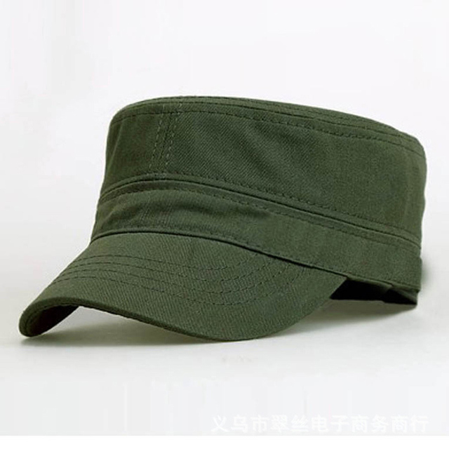 1PC Classic Women Men Snapback Caps Vintage Army Hat Cadet Military Patrol  Cap Adjustable Outdoors Baseball Unisex Hats Hot 73f2f786a789
