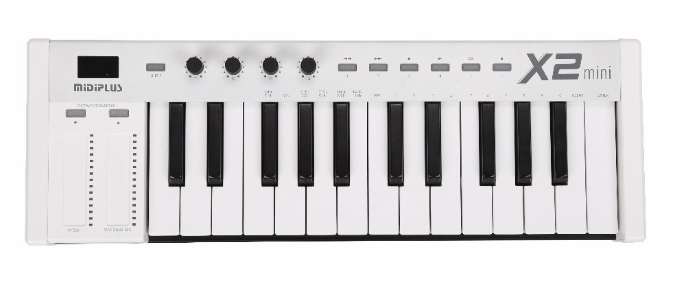 Midiplus X2 Mini Keyboard Controller 3', 25 Keys White