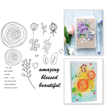 Eastshape 23Pc/Lot 14*14cm Flowers Leaves Garden Clear Stamps for Scrapbooking Phrases Greet Card Album Stamp Decorative Stencil