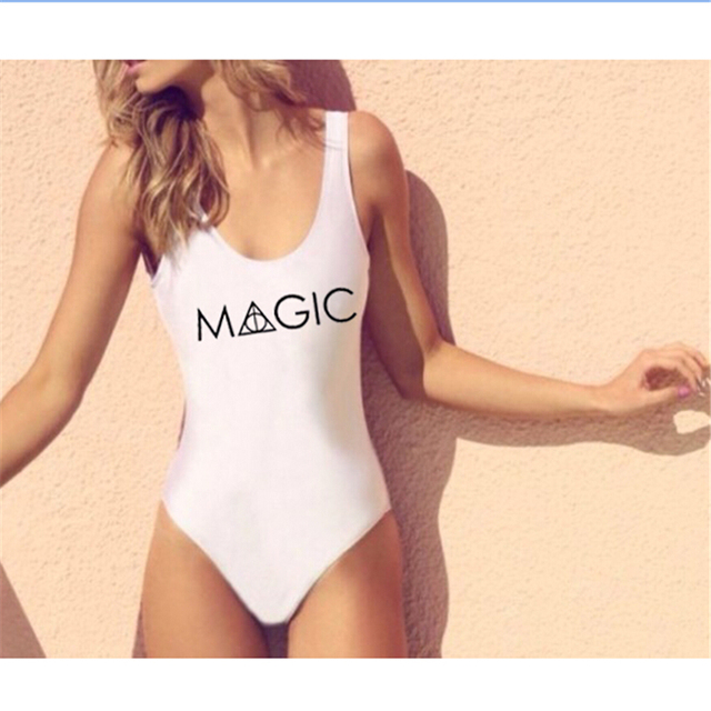Brazilian Letter Beach Wear Sexy Overalls For Women White Jumpsuit And Rompers Skinny Slim Combinaison Femme Sexy Bodysuit Mono