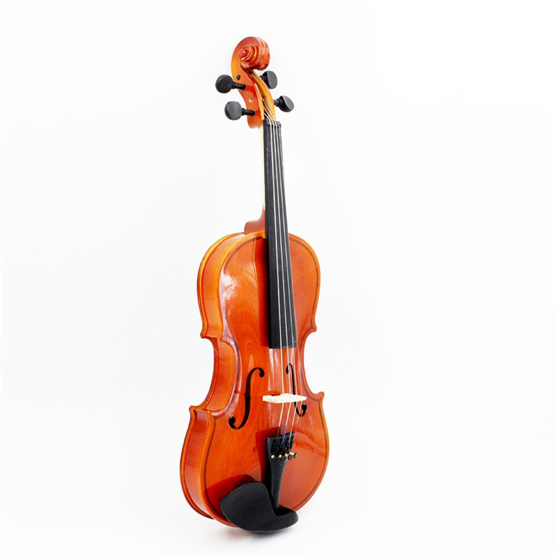 Full Size 4/4 Stringed Instrument Fiddle Natural Acoustic Violin with Violin Case Bow Rosin For Musical Lovers Beginners Gift