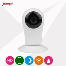 цены jiange Video Surveillance 720P HD WiFi IP Camera Wireless Mini Cube Camera Infrared Night Vision Motion Detection Alarm CK2