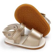 Подъем молодых из искусственной кожи летние сандалии для девочек дышащие резиновой подошве обувь для малышей-мальчиков новорожденных детская обувь 0-18 M