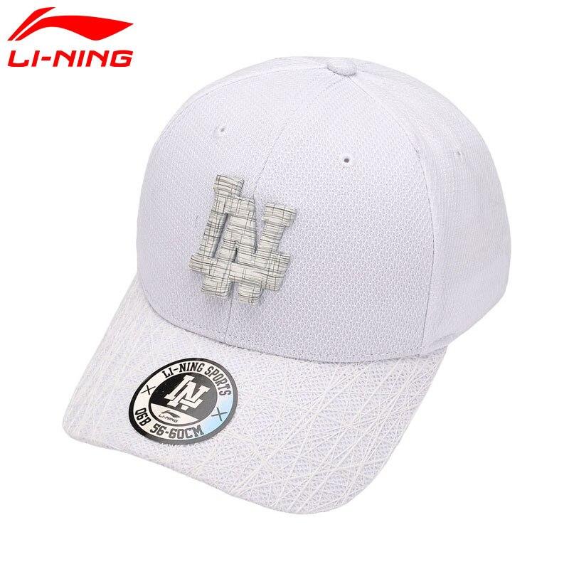 Li-Ning Unisex Urban Sport Baseball Caps 56-60cm 100% Polyester LiNing Li Ning Sports Hats AMYM082 PMS087