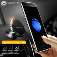 Cafele Universal Air Vent Mount Magnetic Car Phone Holder Stand Stoving Varnish Metal Past Magnetic Mobile