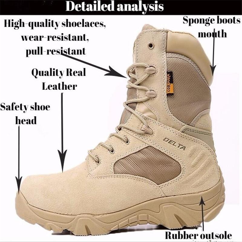 Hiver hommes Delta militaire bottes Force spéciale étanche tactique désert Combat cheville bateaux armée travail chaussures en cuir bottes de sécurité - 5