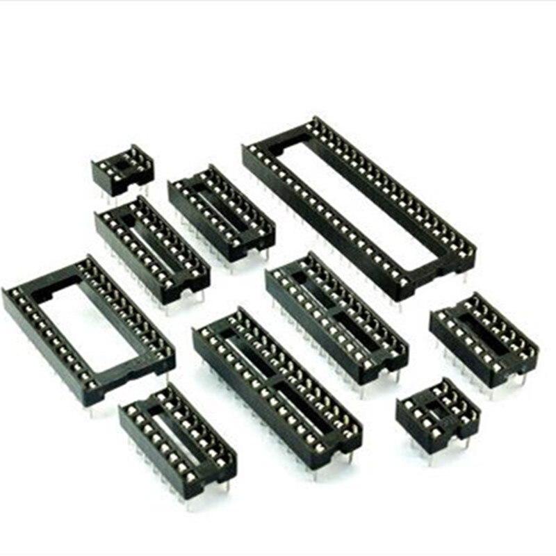 10PCS IC Socket Test Socket Square Type Pin DIP8 DIP14 DIP16 DIP18 DIP20 DIP24 DIP28 DIP32 DIP40