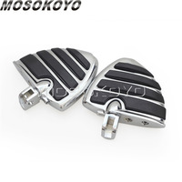 Wide Wing Footpeg Footrest Chrome Foot Peg for Suzuki Boulevard M50 M90 M109R Honda Gold Wing GL1800 2001 2013