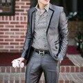 NUEVA cubierta de Marca ropa de Hombre delgado de la boda el novio trajes trajes de hombre novio esmoquin ropa de trabajo chaqueta informal