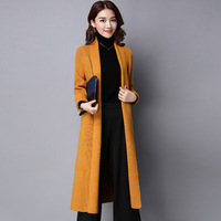 Cardigan Women 2017 Spring Autumn High Quality Pure Mink Cashmere Open Stitch Fashion Loose Casual Sweaters