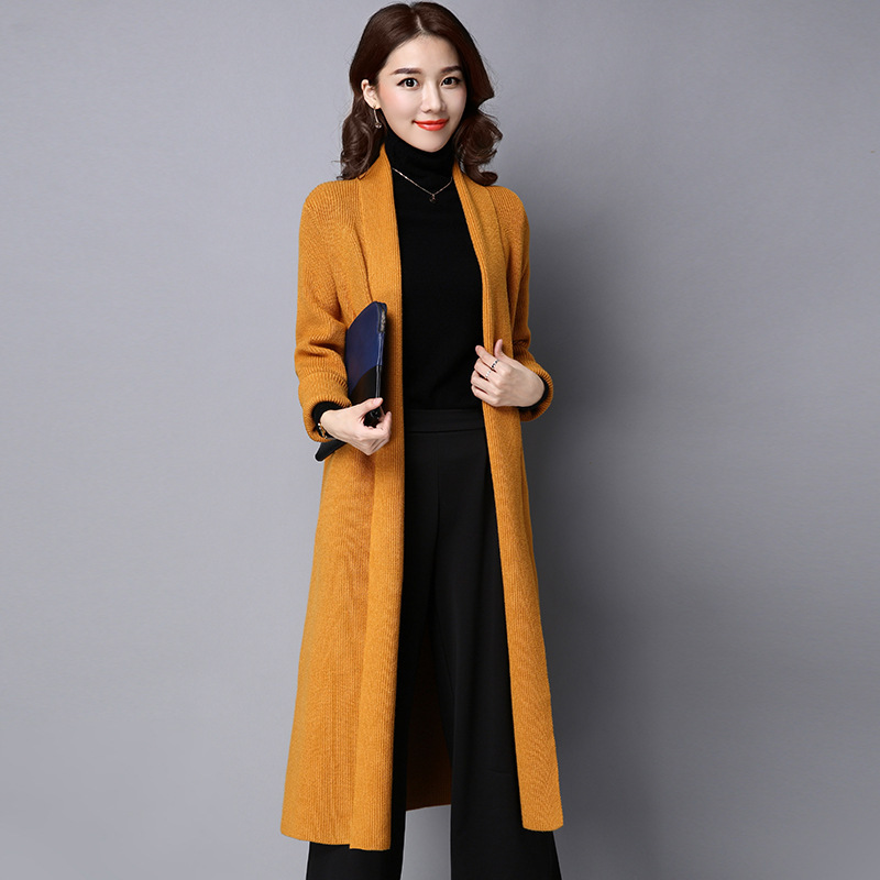 Cardigan Women 2017 Spring Autumn High Quality Pure Mink Cashmere Open Stitch Fashion Loose Casual Sweaters Outwear Coat 1216