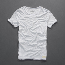 Summer t shirt men new bamboo cotton t shirt thin pure color short-sleeved T-shirt fashion men's clothing mens tshirt camiseta