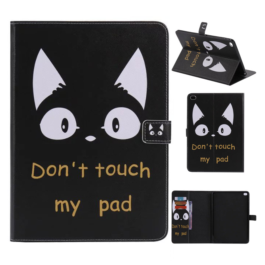 все цены на  For Case iPad Air 2 iPad 6 Fashion Flip Smart PU Leather Stand TPU Tablet Case Cover for iPad Air2 with Sleep Wake up Funtion  онлайн