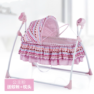 c936636de5c49 Free shipping Metal Baby Crib Rocking Bed Baby Cradle Cot   Baby Stroller  With With Fabric Mosquito Net Infant Crib Baby Bed. Price