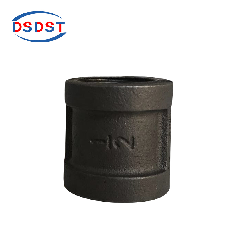 Plumbing 10pcs/pack Black Coupling Malleable Iron Sockets Female Thread Pipe Fittings Loft Industry Fittings Connector Sockets 1/2 3/4