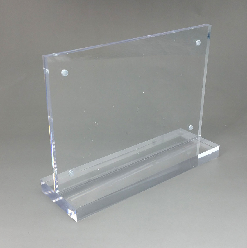 Customized Acrylic Company LOGO Plate Display Name Holder Stands By Sheet T1mm to 25mm u0026 UV Silk Printing Service High Quality-in Clip Holder u0026 Clip ... & Customized Acrylic Company LOGO Plate Display Name Holder Stands By ...