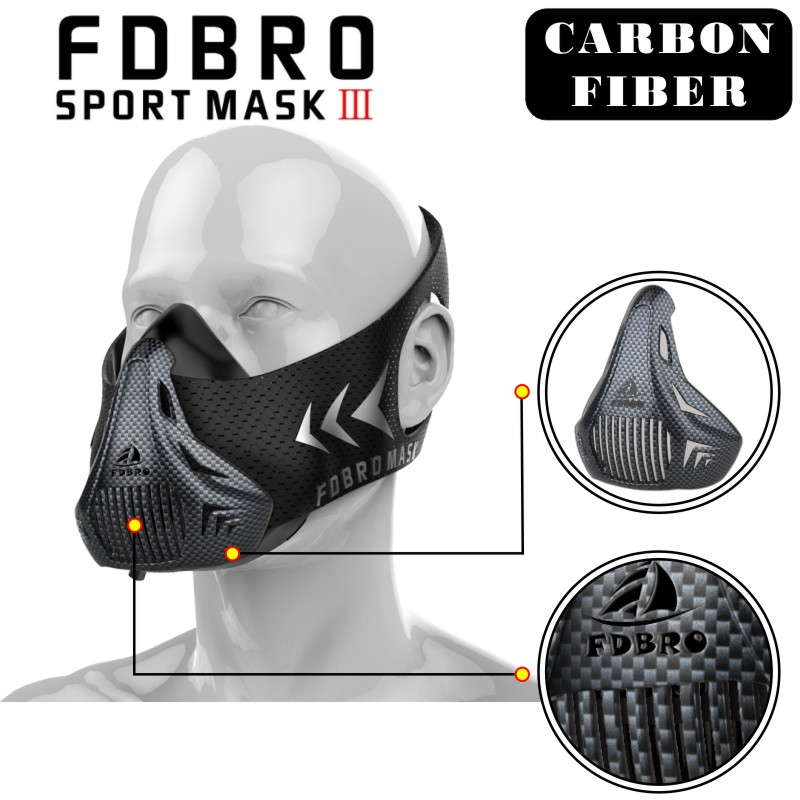 FDBRO Sports masks style black High Altitude training Conditioning training sport mask 2.0 with box phantom mask FREE SHIPPING