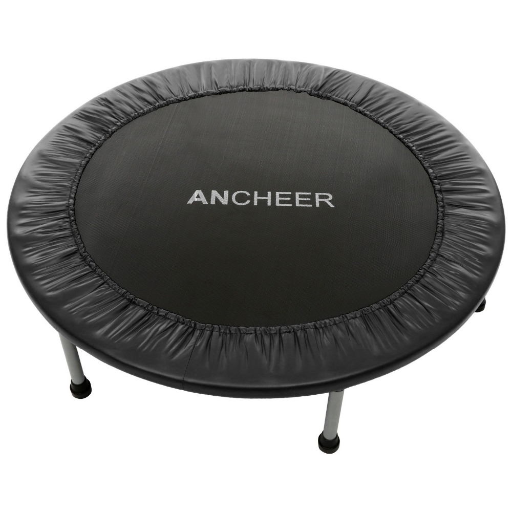 Ancheer New 96cm/38inch Trampoline For Child Folding Trampoline with Safety Pad fitness Trampoline sports Outdoor Fitness 14ft round safety net spring pad ladder optional basketball set trampoline for kids